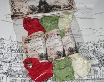 Hand Crinkled Seam Binding Packaged Traditional Christmas ECS