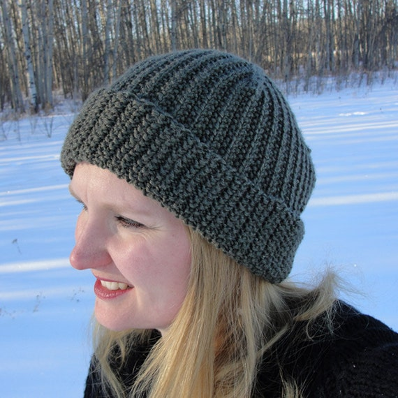 Mens Slouchy Beanie Knitting Pattern : Knit HAT PATTERN Brock Beanie Toque Slouch