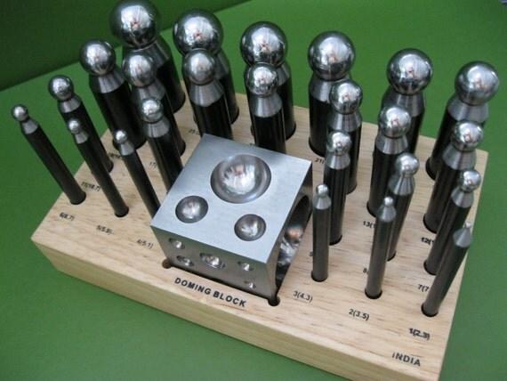 Metal Forming Dapping or Doming Block Set