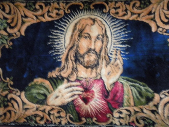 Wall Tapestry Jesus Sacred Heart