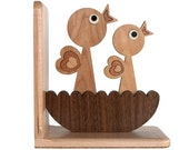 Woodland Baby Bird Nest Forest Animal Bookend (1)