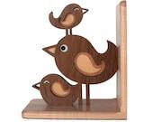 Bird Stack Wooden Animal Bookend Heirloom: Baby Nursery Kids