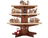 SALE- Woodland Happy Tree Bookshelf with 4 Bookends