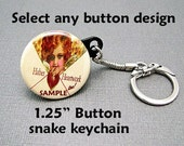 Keychain. 1.25 Button snake keychain. Your choice of design