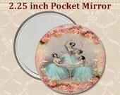 Ballerinas and roses. Pocket Mirror