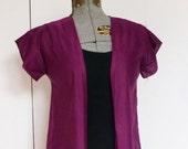 1970s Sheer Fuchsia Kimono Robe