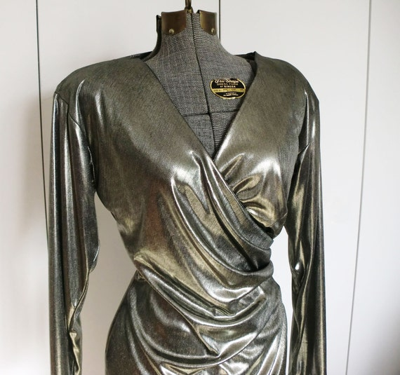 1980s Gold Lame Dress by Midnight Glo