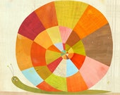 Colorful Snail Print