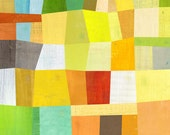 "Sunny Block Abstract Print 12"" x 16"""