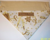 Dog/Cat/Ferret-Reversible 2 in 1 Over the Collar Bandana STAR OF DAVID HANUKKAH Menora PASS OVER Shalom//Custom made just for YOU and your pet