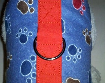 Blue Flannel Paws Print  Harness. Perfect Item for your Cat, Dog or Ferret. all Items are custom made For Your PET.
