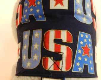 USA Patriotic July 4th Harness. Perfect Item for your Cat, Dog or Ferret. All Items Are Custom Made For Your Pet.