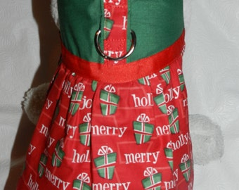 Christmas Holiday Festive Gifts Harness Dress. Perfect Item for your Cat, Dog or Ferret. All Items Are Custom Made For Your Pet.
