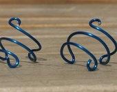 Pair of Dark Blue Ear Cuffs