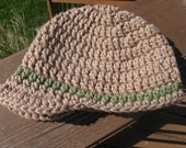 Crocheted Beanie With Brim, Newsboy  - Customize Your Own (CHILD sizes)