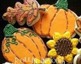 Fall Cookies, Pumpkin Cookies, Leaf Cookies, Acorn Cookies, Sunflower Cookies, Autumn Cookies