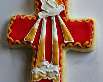 Confirmation, Confirmation Cookies, Cross Cookies - Religious Cookies -Confirmation Cross Cookies - 1 Dozen