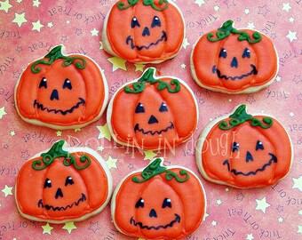 Halloween Cookies, Jack-o-lantern Mini Cookies - 2 Dozen