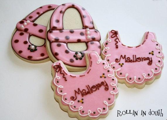 Baby Shower Cookies - Bibs and Baby Shoes - 1 Dozen