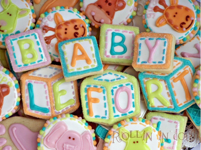 Baby Shower Cookies Alphabet