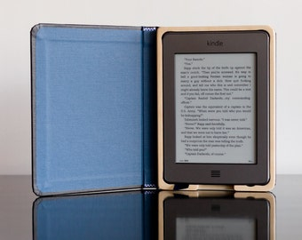 SALE - The Mini Keeper Case for Kindle Touch -Black with Camden Blue  WITH POCKET!