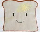 INSTANT DOWNLOAD Kawaii Happy Toast machine applique design