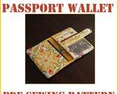 INSTANT DOWNLOAD The Traveler Passport Wallet PDF sewing pattern