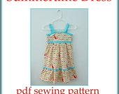 INSTANT DOWNLOAD Summertime Dress PDF sewing pattern