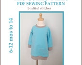INSTANT DOWNLOAD pdf dress pattern The Comfy Tunic PDF pattern