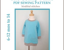 INSTANT DOWNLOAD pdf pattern The Comfy Tunic PDF dress pattern