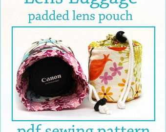 INSTANT DOWNLOAD Lens Luggage Padded Lens Pouch PDF sewing pattern
