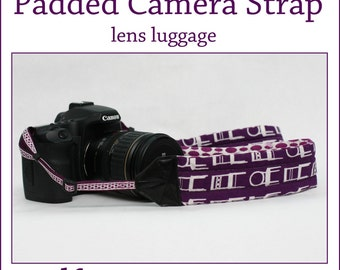 INSTANT DOWNLOAD Lens Luggage Padded Camera Strap PDF sewing pattern