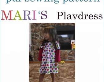INSTANT DOWNLOAD PDF dress pattern Mari's Playdress pdf pattern
