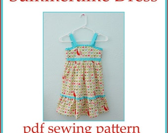 INSTANT DOWNLOAD Summertime Girls Dress PDF sewing pattern