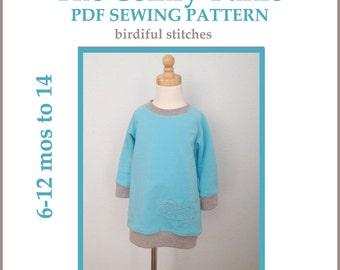 INSTANT DOWNLOAD pdf pattern The Comfy Tunic PDF dress pattern