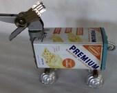 Crackers- Robot Dog Assemblage-Junk Art