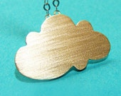 Sterling Silver Cloud Pendant , necklace
