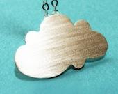 Cloud necklace, Cloud Pendant, , Sterling Silver Cloud Pendant , cloud necklace.