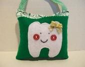 ON SALE - Shamrocks Girls Tooth Fairy Pillow