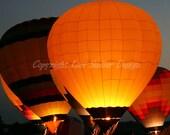 Hot Air Balloon Evening Glow 8x10 Fine Art Photograph