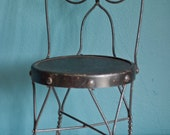 Antique Children's Ice Cream Chair