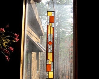 Decorative Stained Glass Panel glass art gift  interior design  home and living home decor