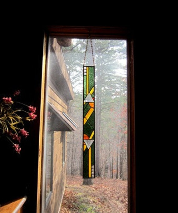Stained glass art panel home and living home decor suncatcher art glass