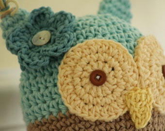 Owly Hat - customize your colors and size