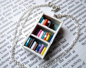 Beach House Bookshelf Necklace - Book Jewelry by Coryographies (Made to Order)