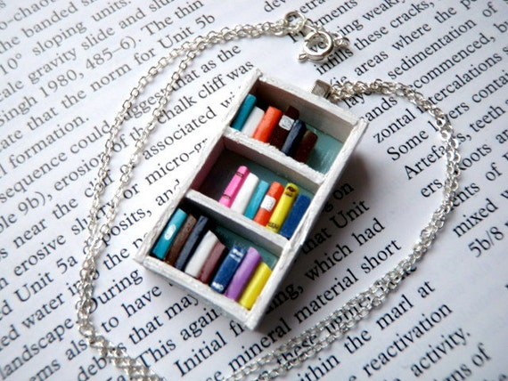Bookshelf Necklace | Gifts for Bibliophiles