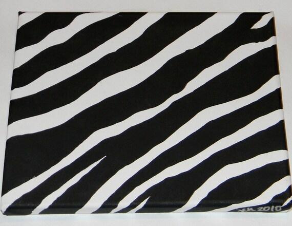 small zebra painting