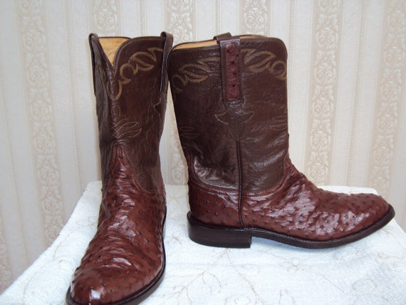Reserved for Innocent Olengue- Unique Lucchese Ostrich Roper Boots