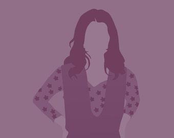 Kaylee Frye Firefly 8x10 minimalist poster in purple