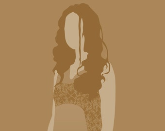 River Tam Firefly 8x10 minimalist poster in mustard yellow